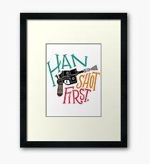 Star Wars - Han Shot First Framed Print