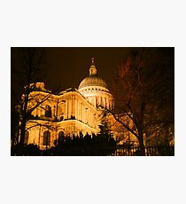 St Pauls's London at night Photographic Print