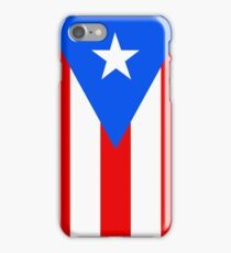 Puerto Rico Flag Banner iPhone Case/Skin