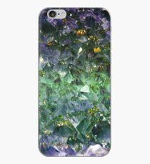 Vinilo o funda para iPhone Esmeralda gema de corte áspero