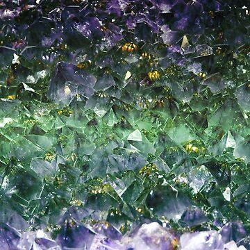 Esmeralda gema de corte áspero de peggieprints