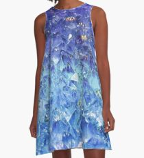 Sapphire rough cut gemstone A-Line Dress