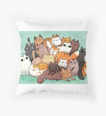 Pile o cat  Throw Pillow