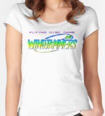 Windjammers (Neo Geo Title Screen) Women's Fitted Scoop T-Shirt