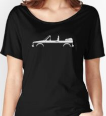 Car silhouette for VW Golf / Rabbit Mk1 convertible enthusiasts Women's Relaxed Fit T-Shirt