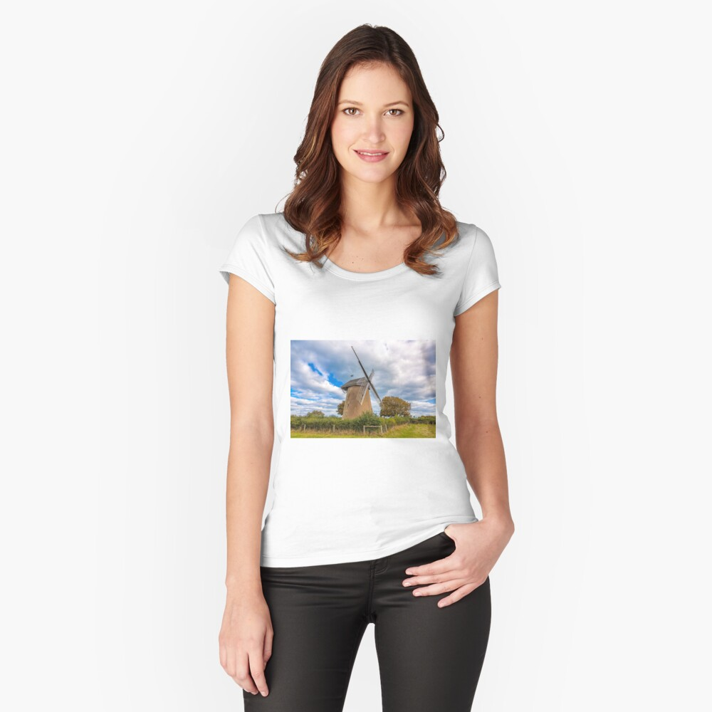 Bembridge Windmill #4 Fitted Scoop T-Shirt