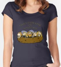 Chibi Amon Amarth: Guardians of Asgaard Women's Fitted Scoop T-Shirt