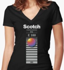 """Re-record, not fade away"" - Scotch VHS Women's Fitted V-Neck T-Shirt"