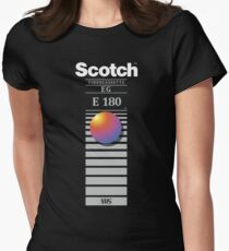 """""""Re-record, not fade away"""" - Scotch VHS Women's Fitted T-Shirt"""