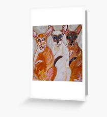 The Brat Pack Greeting Card