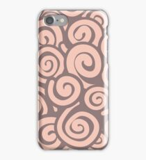 Conceptual Swirls in Light Pink and Mocha iPhone Case/Skin