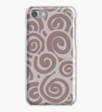 Conceptual Swirls in Mocha and Brown iPhone Case/Skin