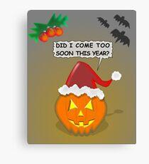 Halloween And Christmas Canvas Print