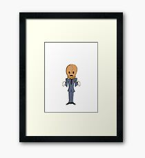 Scarecrow/No Background Framed Print
