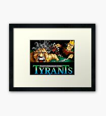 Tyrants: Fight Through Time (Genesis Title Screen) Framed Print