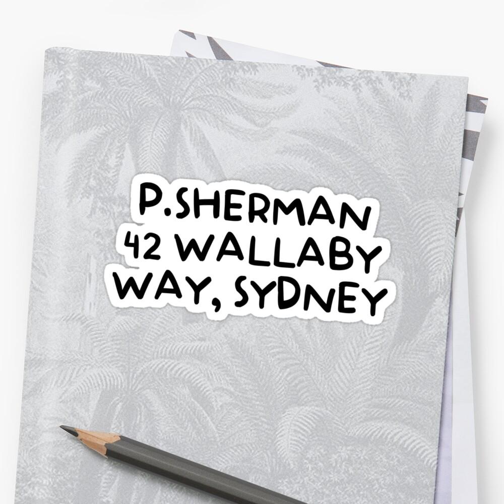Par Way Funkythings Stickers Sherman » 42 P Wallaby Sydney wnARO1qU