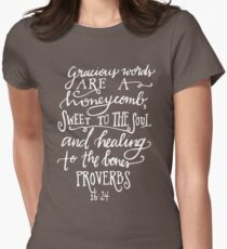 Proverbs 16:24 Women's Fitted T-Shirt