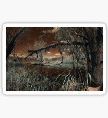 Duck Blind Lake - Infrared Photo Sticker