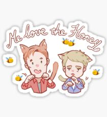 Cat!Freebatch with Bees Sticker