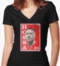 Post Hossa Women's Fitted V-Neck T-Shirt