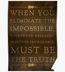 Sherlock, Eliminate the Impossible (Colour) Poster