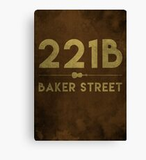221B Baker Street (Colour) Canvas Print