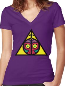 Hyrule Hallows Women's Fitted V-Neck T-Shirt