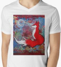 Clair De Lune, Vulpes Mens V-Neck T-Shirt