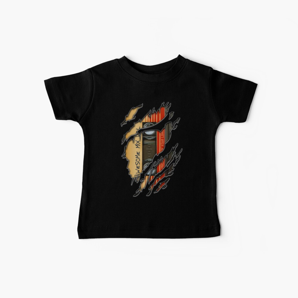 Awesome transparent mix cassette tape volume 1 Baby T-Shirt