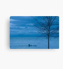 Paddler at Dusk Canvas Print