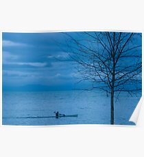 Paddler at Dusk Poster