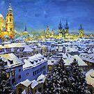 Prague After Snow Fall by Yuriy Shevchuk
