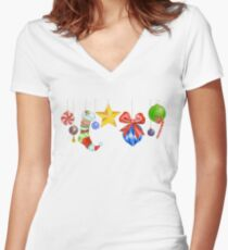 Sparkle & Candy Women's Fitted V-Neck T-Shirt