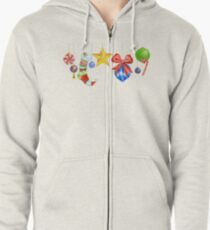 Sparkle & Candy Zipped Hoodie