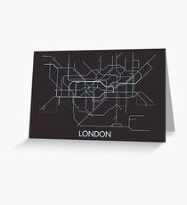 Minimal Tube Map Greeting Card