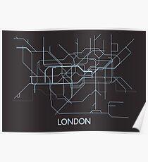 Minimal Tube Map Poster