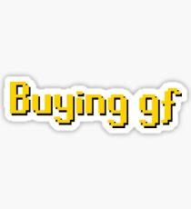 Buying gf, Old RuneScape Font Design Sticker