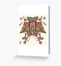 Vector Abstract robot character Greeting Card