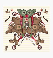 Vector Abstract robot character Photographic Print
