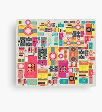 VIntage camera pattern wallpaper design Canvas Print