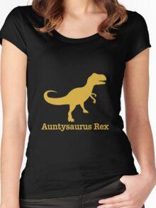 Auntysaurus Rex Aunt Shirt Mother's Women's Fitted Scoop T-Shirt