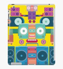 funny and cute vector boombox face pattern iPad Case/Skin