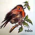 Christmas Robin. Elizabeth Moore Golding© by Elizabeth Moore Golding