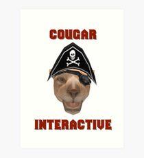 Cougar Interactive Art Print