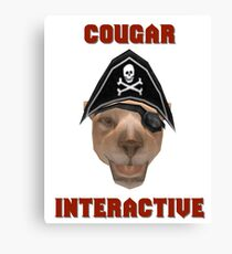 Cougar Interactive Canvas Print