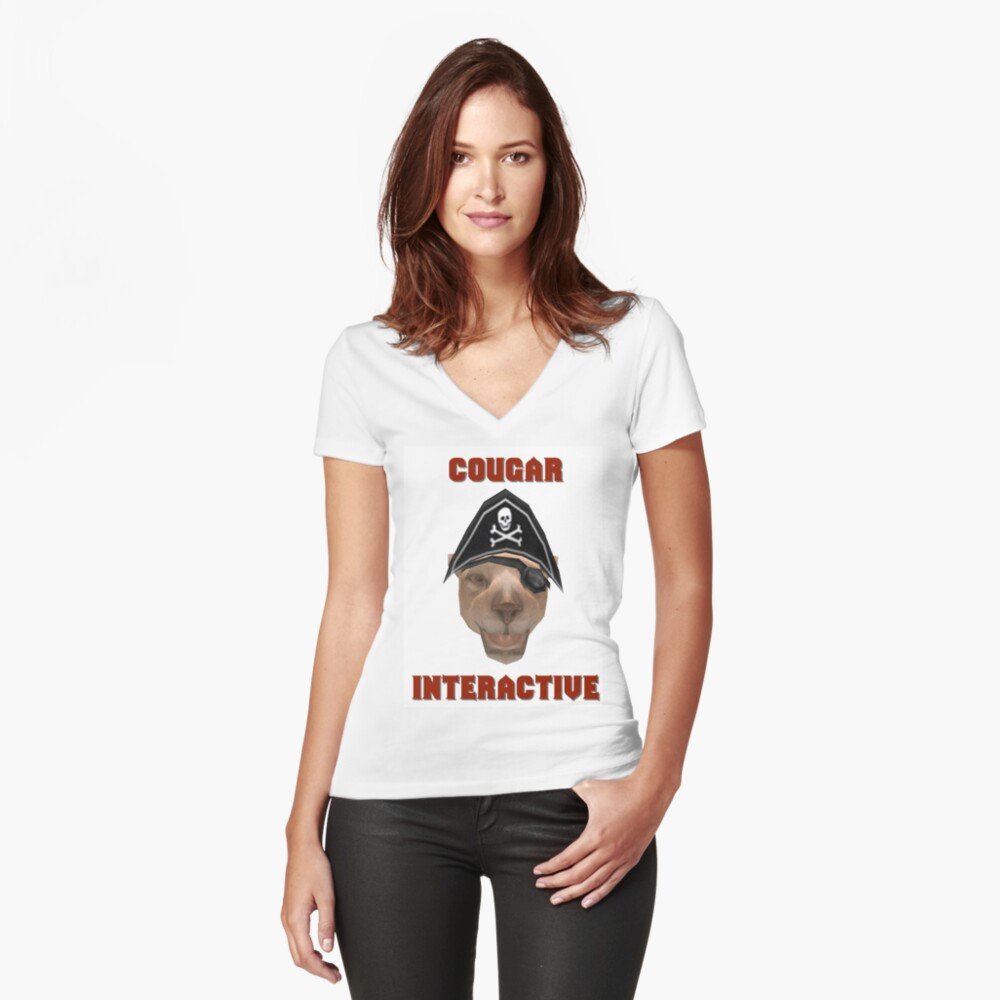 Cougar Interactive Women's Fitted V-Neck T-Shirt Front