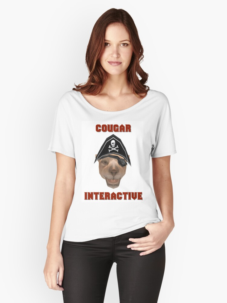 Cougar Interactive Women's Relaxed Fit T-Shirt Front