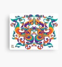 symmetrical vector colorful pattern Canvas Print