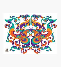 symmetrical vector colorful pattern Photographic Print