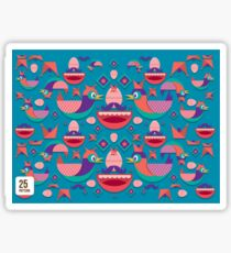 Cute colorful bird pattern vector Sticker